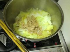 白菜煮込み中